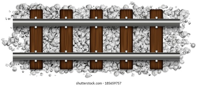 rails abstract vector illustration isolated on background eps 10 / rails