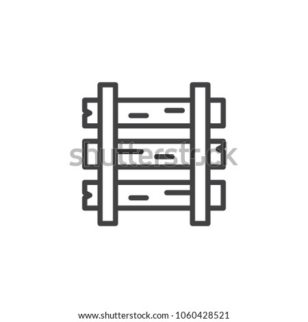 rails sleepers outline icon linear style stock vector royalty free