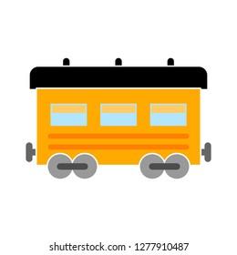 railway icon- railway  isolate, travel symbol illustration- Vector train