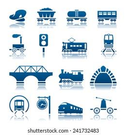 Railway icon set