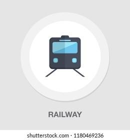 railway icon - vector train - rail station - transportation icon