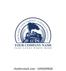 Railway Logo Design Train Concept Logo