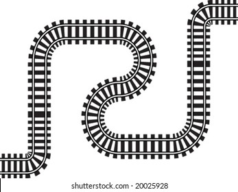 railway vector illustration