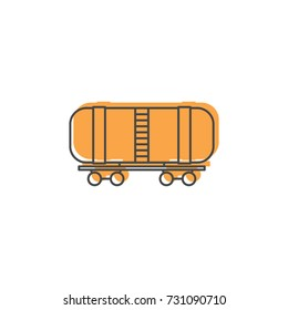 Railway wagon oil icon. Doodle illustration of Railway wagon oil vector icon for web isolated on white background