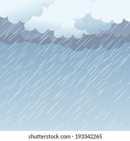Rain as a background, vector illustration