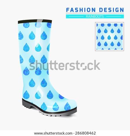 Rain boot trendy design concept fashion stock vector royalty free rain boot trendy design concept fashion illustration creative rubber boots design template original maxwellsz