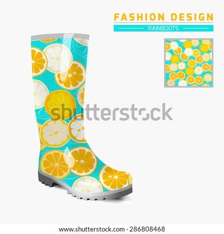 Rain Boot Trendy Design Concept Fashion Stock Vector (Royalty Free ...