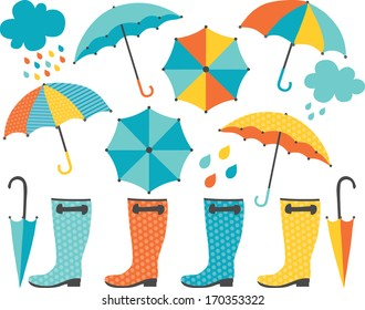 Rain Boots and Umbrellas (Boy)