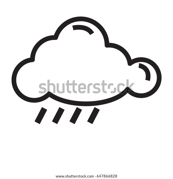 Rain Cloud Icon Outline Stock Vector (Royalty Free) 647866828