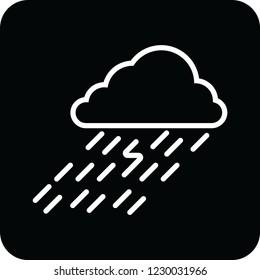 rain cloud icon for web and print