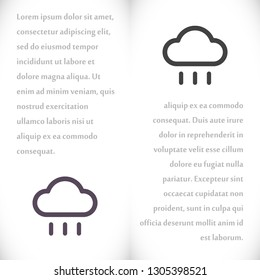 Rain Cloud Vector icon