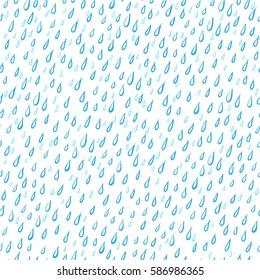 Rain drops abstract background. Seamless pattern. Vector illustration.