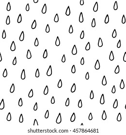 Rain drops - seamless pattern