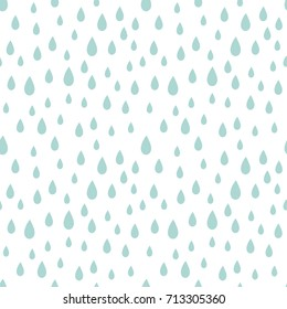 Rain drops seamless pattern. Vector illustration