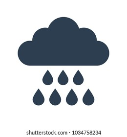Rain Icon on white background. Vector illustration