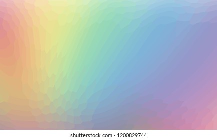 Rainbow abstract background of small parts. Smooth transition of colors of the rainbow. Vector image of the pastel colors spectrum. Rainbow colors texture. Rainbow vector wallpaper.