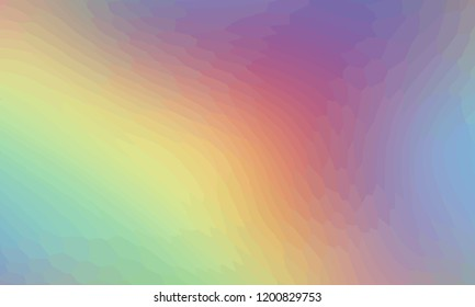 Rainbow abstract background of small parts. Smooth transition of colors of the rainbow. Vector image of the pastel colors spectrum. Blur pink, yellow, orange, green and violet colors. Colorful pattern