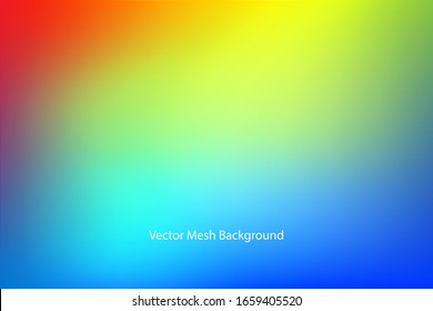 rainbow Abstract blurred gradient mesh background soft colored vector background illustration,