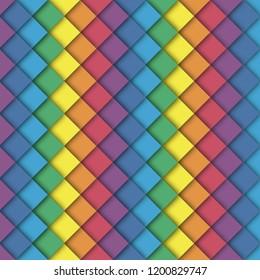 Rainbow abstract wallpaper. Rainbow abstract background eps 10. Rainbow vector colors. Rainbow illustration squares.