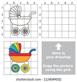 Drawing Worksheet Preschool Kids Easy Gaming Stock Vector Royalty