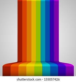 Rainbow background art, rainbow perspective, Vector illustration