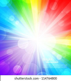 Rainbow background with circles. Abstract colorful illustration