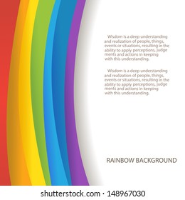 rainbow background with custom text copy place