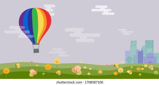 Rainbow balloon celebrate Pride day labels collection. LGBT. banner
