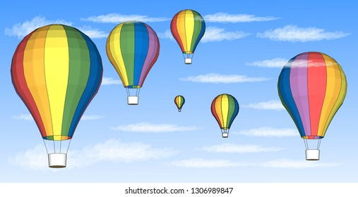 Rainbow Balloon Vector