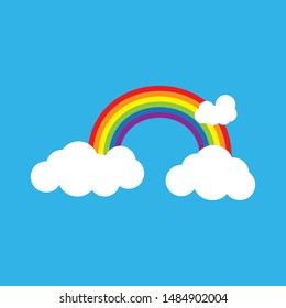 Rainbow beauty icon template vector illustration design