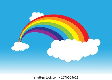 Rainbow beauty icon template vector illustration design.