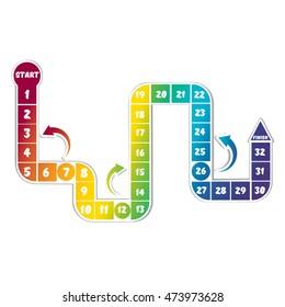 Rainbow board game. Illustration vector