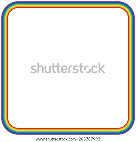 rainbow border stock vector royalty free 205787992 shutterstock