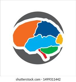 Rainbow brain full colour for logo