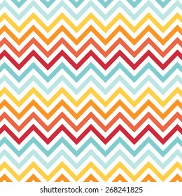 Rainbow Chevron Two Pattern