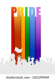 Rainbow color background for LGBT Pride month for lesbian, gay, bisexual and transgender. Vector illustration