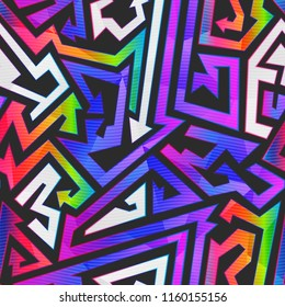 Rainbow color graffiti pattern (eps 10 vector file)