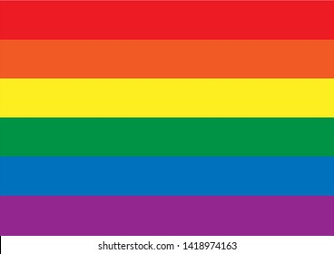 Rainbow color stripes background,copy space,banner and wallpaper,LGBT flag Pride Month symbol of gay Pride.