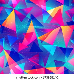 Rainbow color triangle seamless pattern (vector eps 10)