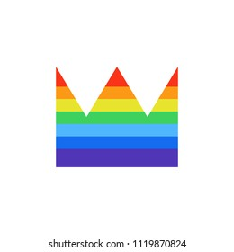 rainbow crown icon