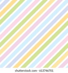 Rainbow diagonal stripe seamless pattern.Pastel color background.