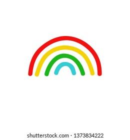 rainbow doodle icon