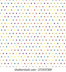 Rainbow dots, vector illustration