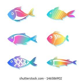 Rainbow Fish Images Stock Photos Vectors Shutterstock
