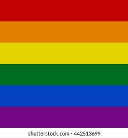 Rainbow flag - LGBT community symbol , vector illustration