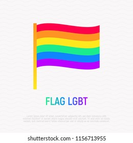 Rainbow flag LGBT line icon. Modern vector illustration.
