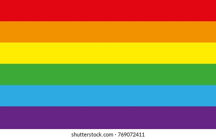 Rainbow flag or LGBT movement