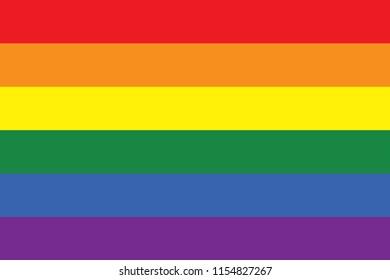 Rainbow flag, LGBT movement, vector illustration