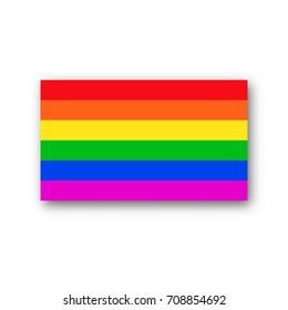Rainbow flag  lgbt  symbol vector  pride homosexual icon