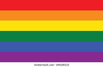 Rainbow flag. Vector. Accurate dimensions